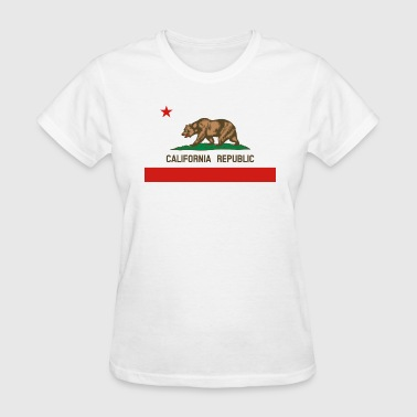 California Republic State Flag - Women's T-Shirt