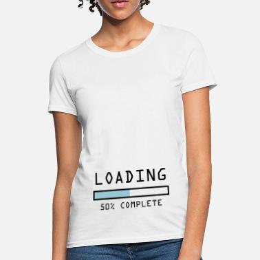 50s Pregnancy loading 50% - Women's T-Shirt