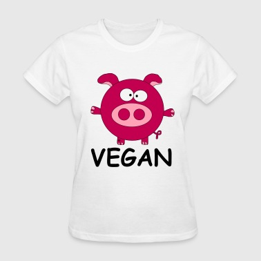 Vegan Statement Shirt Pig Piggy Vegetarian Food - Women's T-Shirt