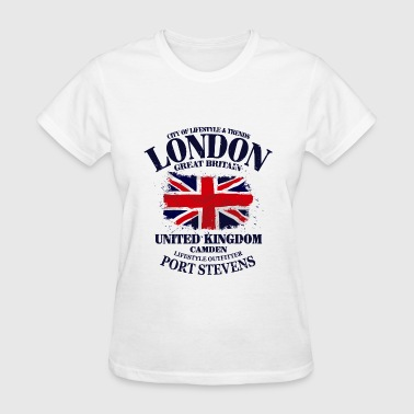 London - Union Jack - Vintage Look - Women's T-Shirt