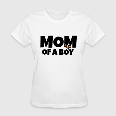 Mom of a Boy Mothers Day Design - Women's T-Shirt
