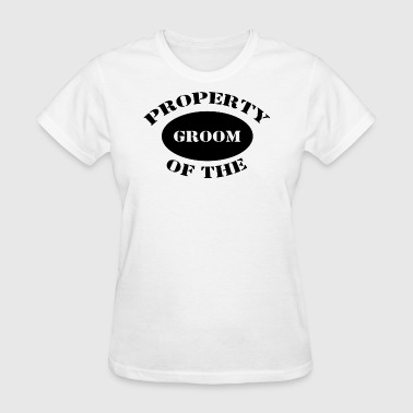 Just Married Property of The Groom - Women's T-Shirt