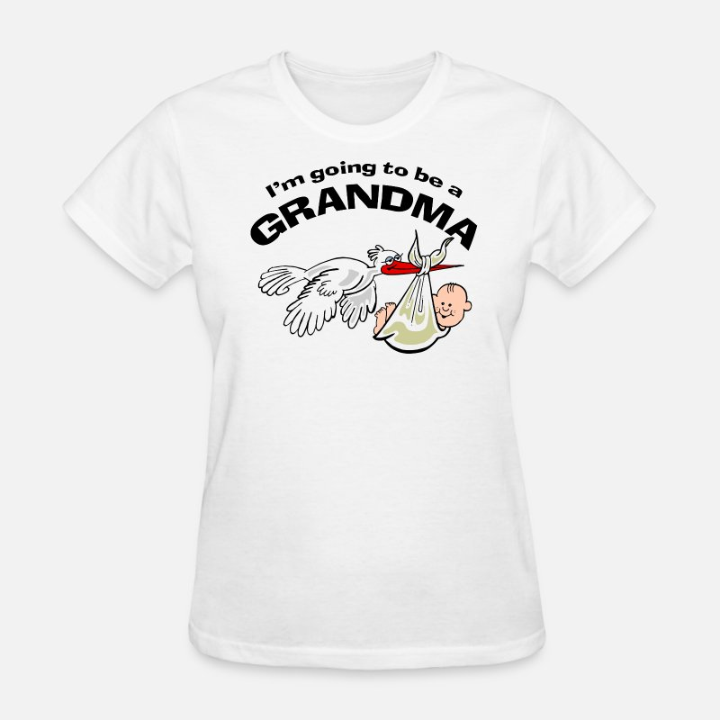 Grandchild T-Shirts - I'm Going To Be A Grandma - Women's T-Shirt white