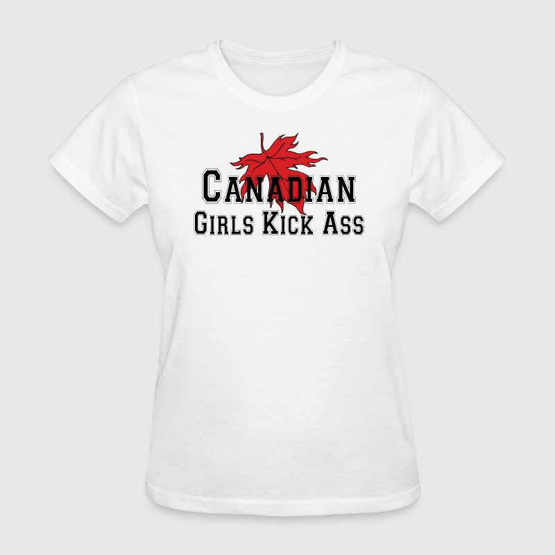 Canadian Girls Kick Ass - Women's T-Shirt