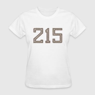 215 Stitched Style Philadelphia Philly - Women's T-Shirt
