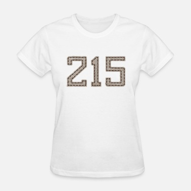 215 Philly Apparel 215 Stitched Style Philadelphia Philly - Women's T-Shirt