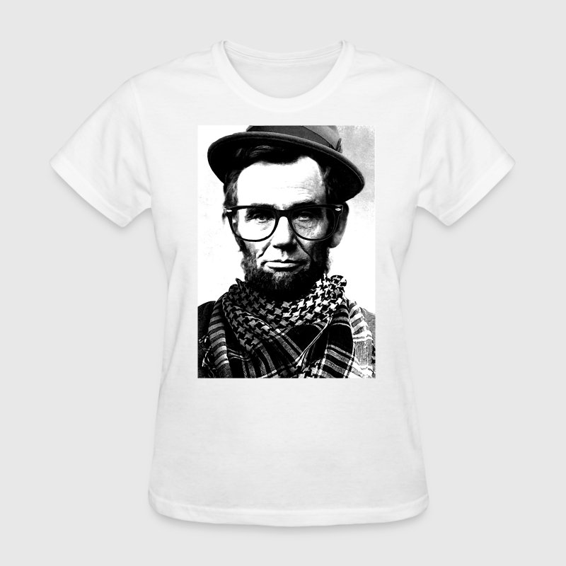 Hipster Lincoln - Women's T-Shirt