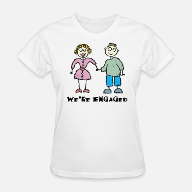 Fiancée Engagement We're Engaged - Women's T-Shirt