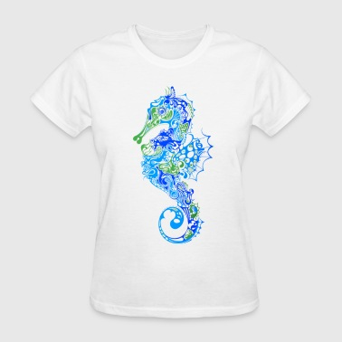 Abstract Seahorse abstract - Women's T-Shirt