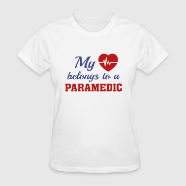 Heart Belongs Paramedic - Women's T-Shirt