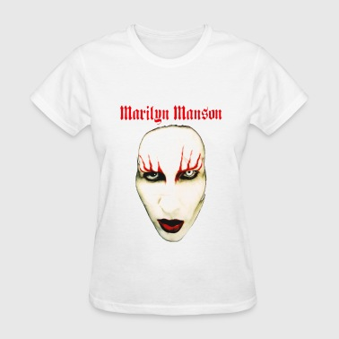 MARILYN MANSON BIG FACE RED LIDS OFFICIAL - Women's T-Shirt