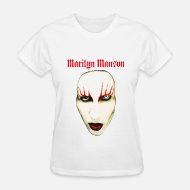 Manson MARILYN MANSON BIG FACE RED LIDS OFFICIAL - Women's T-Shirt