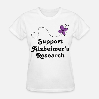 Alzheimers Support Alzheimers Support Cute - Women's T-Shirt