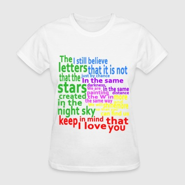 I Love Mind Keep in mind that I love you - Women's T-Shirt
