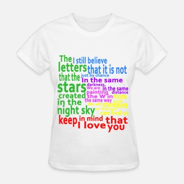 I Love Mind & Keep in mind that I love you - Women's T-Shirt