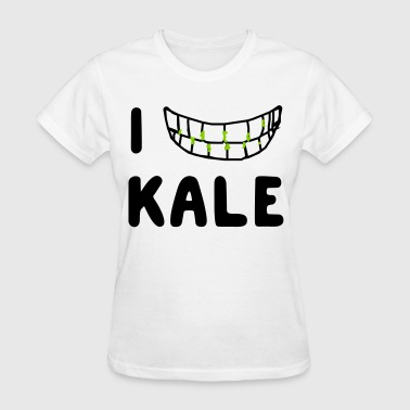 I love kale (in teeth) - Women's T-Shirt