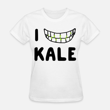 I Love Kale I love kale (in teeth) - Women's T-Shirt