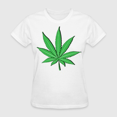 Pot Leaf HD Design - Women's T-Shirt