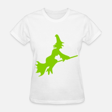 Flying Witch On Broom Witch Broom Fly - Women's T-Shirt