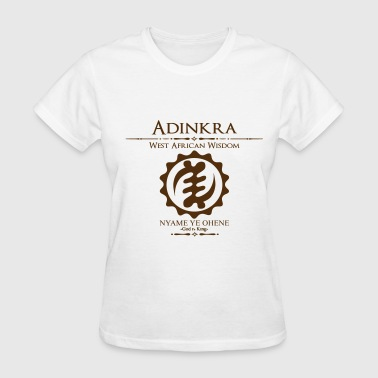 Adinkra God is King  - Women's T-Shirt