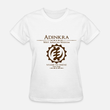 No Gods Or Kings Adinkra God is King  - Women's T-Shirt