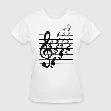 Double Bass Music Notes T shirts - Women's T-Shirt