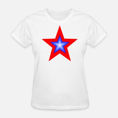 Red Stars Blue Star In Red Star - Women's T-Shirt