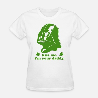Patrick Funny Darth Vader Kiss Me - Women's T-Shirt