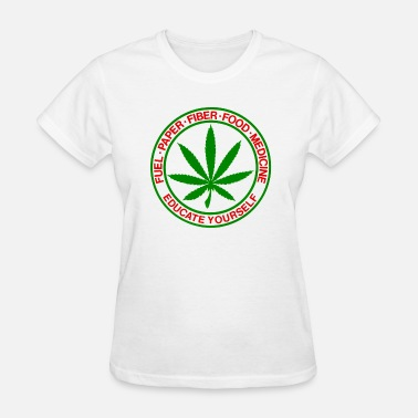 Medicinal Cannabis fuel-paper-fiber-food-medicine-cannabis-shirt.png - Women's T-Shirt