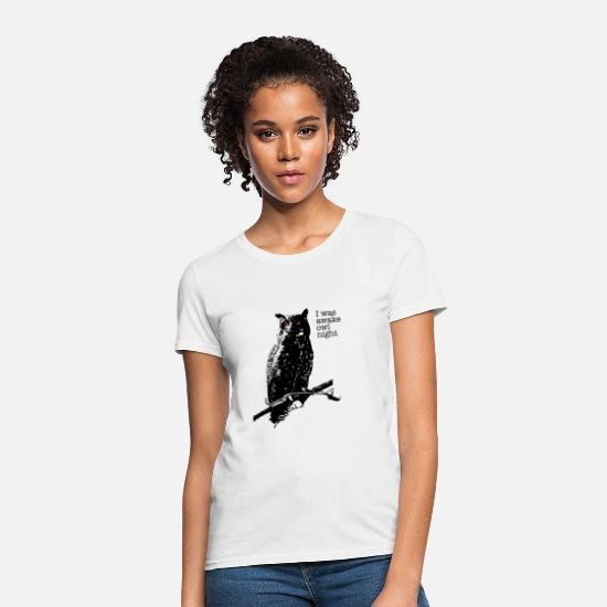 Night Owl T-Shirts - Owl night - Women's T-Shirt white