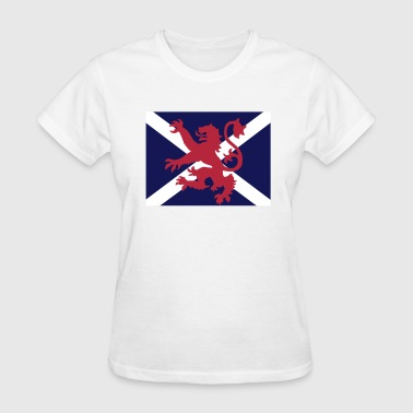 Scottish Flag Lion & Saltire - Women's T-Shirt