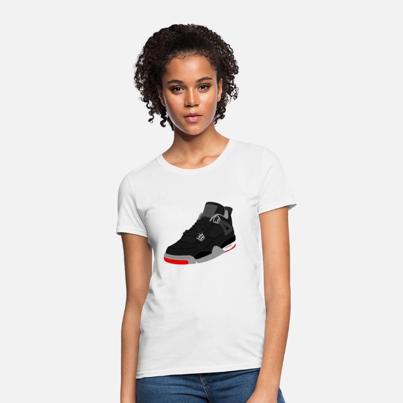 b5a4bcdd84cb0b Jordan T-Shirts - jordan 4 bred - Women s T-Shirt white