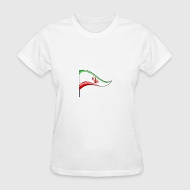 Iran Mens Iran Tehran Flag Banner Flags Ensigns - Women's T-Shirt