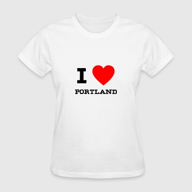 i love Portland - Women's T-Shirt
