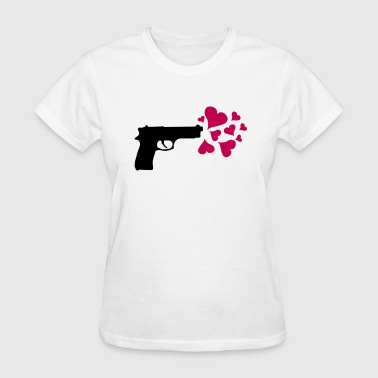 Gun Love Hearts - Women's T-Shirt
