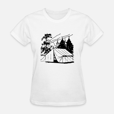 Campfire camping campfires camper scouts tent teepee cookin - Women's T-Shirt