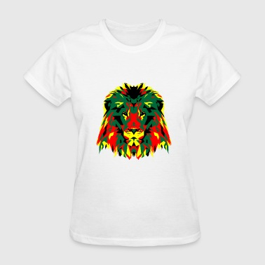 African Lion Poly Art - Women's T-Shirt