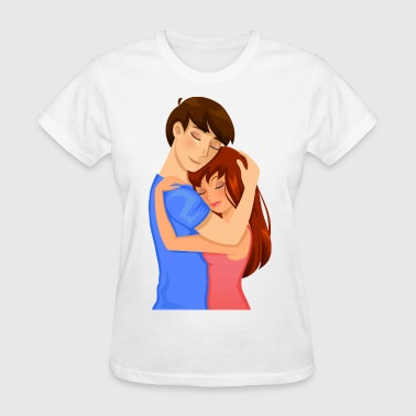 Couple embrace - Women's T-Shirt