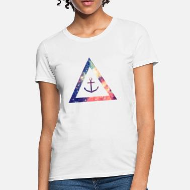 Swag  Galaxy / universe / hipster triangle with anchor - Women's T-Shirt