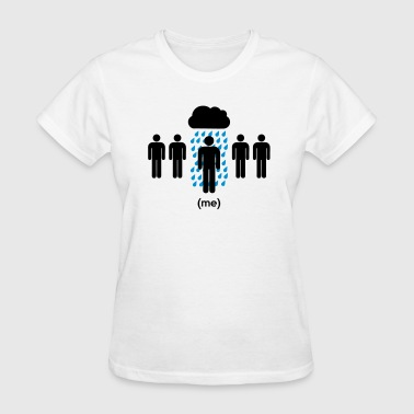 Stickfigure Quotes Bad Luck (Why is it always me) Rain - Women's T-Shirt
