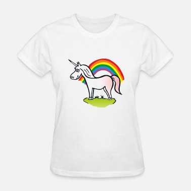 Lesbian Unicorn Rainbow and Unicorn - Women's T-Shirt