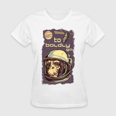 The apes of space - monkey revolution on jupiter - Women's T-Shirt