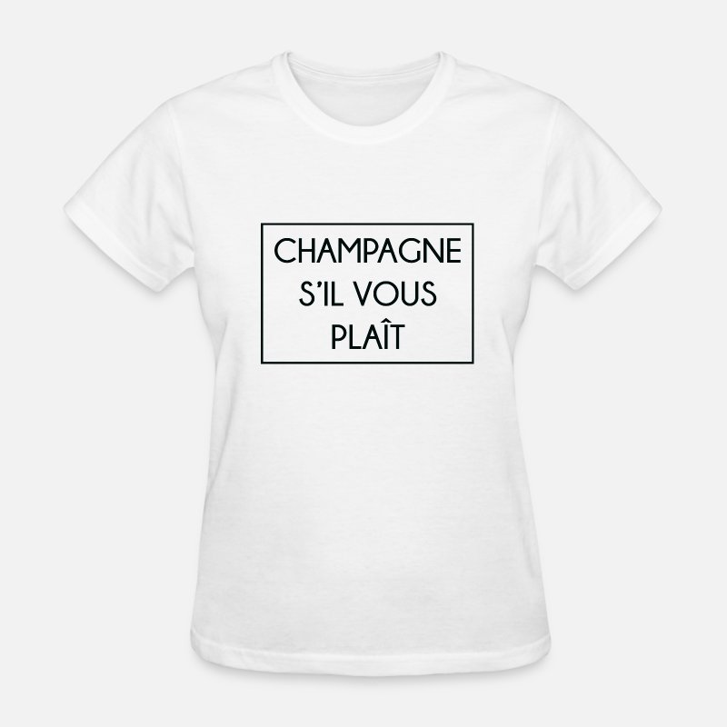 Alcohol T-Shirts - Champagne S'il Vous Plait - Women's T-Shirt white