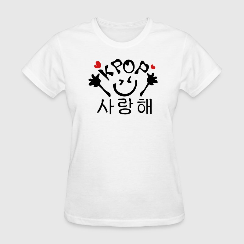 Love KPOP in Korean saying - Women's T-Shirt