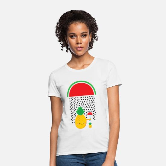 Cool T-Shirts - Melon Rain - Pineapple - Women's T-Shirt white