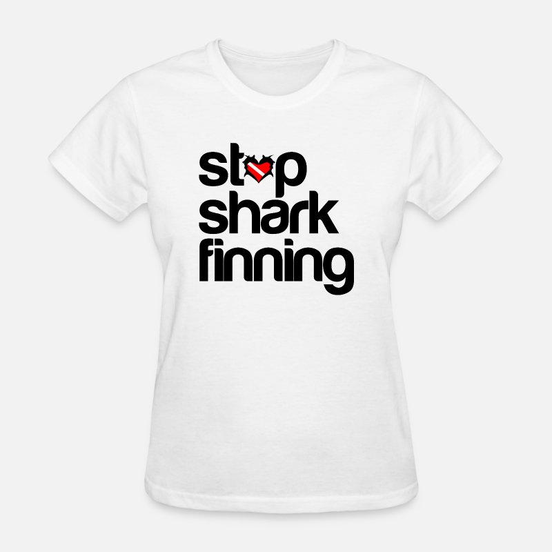 Fish T-Shirts - Stop Shark Finning - Women's T-Shirt white