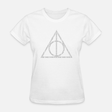 Deathly Typographic Deathly Hallows - Women's T-Shirt