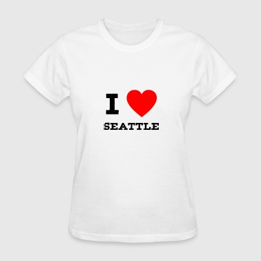 I Love Seattle i love Seattle - Women's T-Shirt
