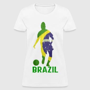 Shop brazil t shirts online spreadshirt for Womens brazil t shirt