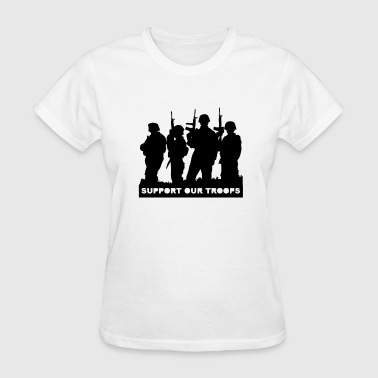 Soldier Support Support Our Troops With Soldiers - Women's T-Shirt